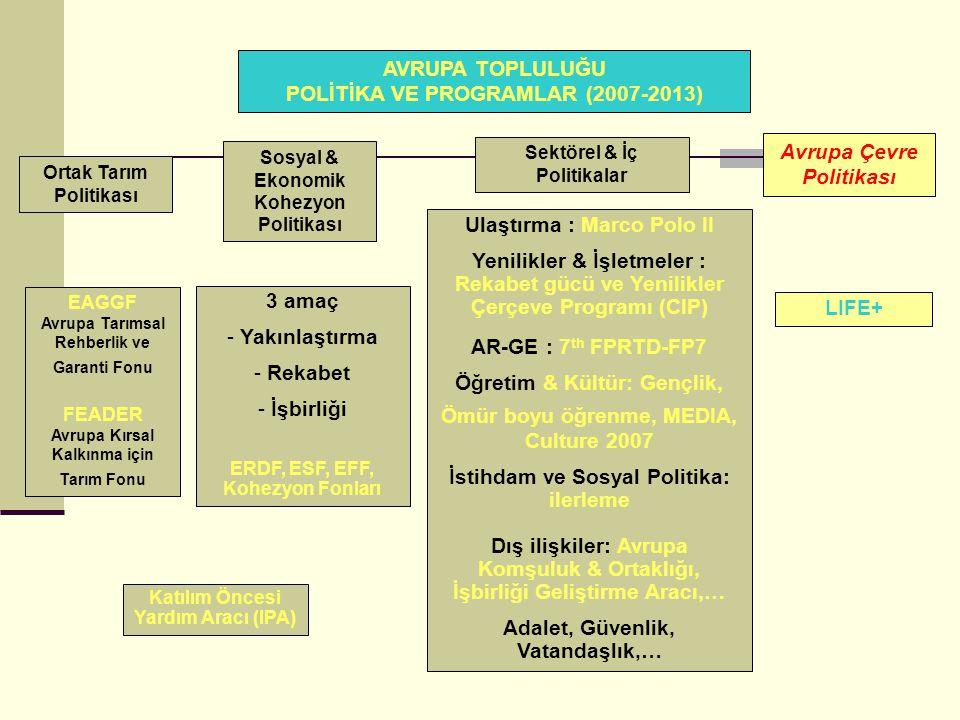 AVRUPA TOPLULUĞU POLİTİKA VE PROGRAMLAR (2007-2013)