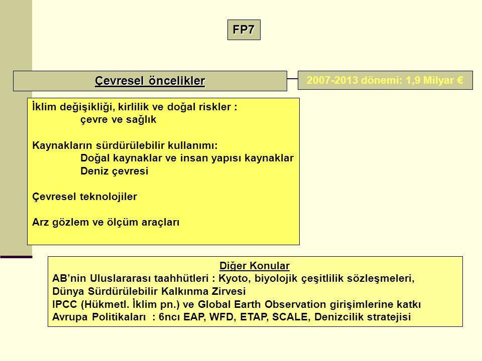 FP7 Çevresel öncelikler