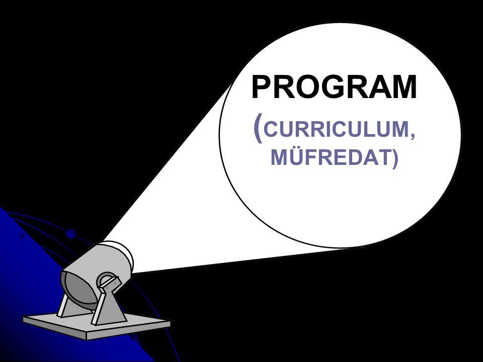 PROGRAM (CURRICULUM, MÜFREDAT)
