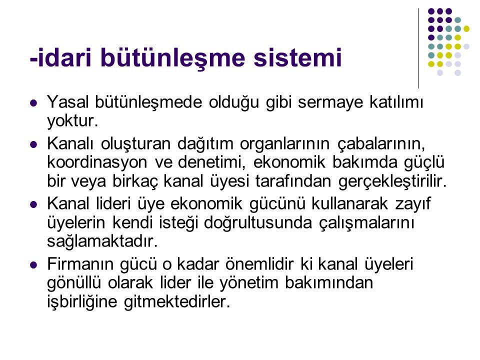 -idari bütünleşme sistemi