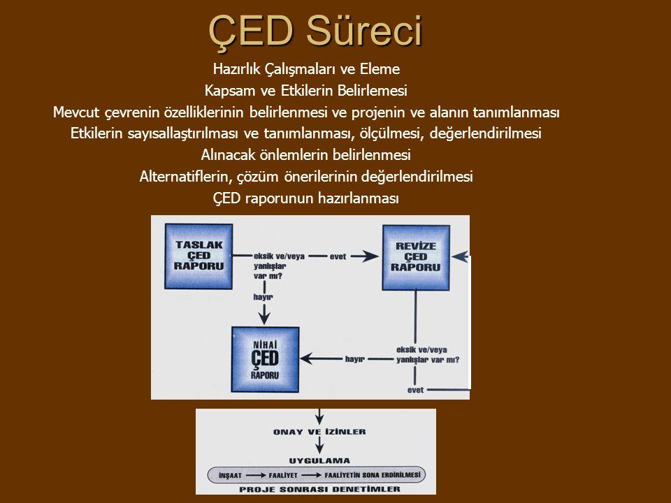 ÇED Süreci Hazırlık Çalışmaları ve Eleme