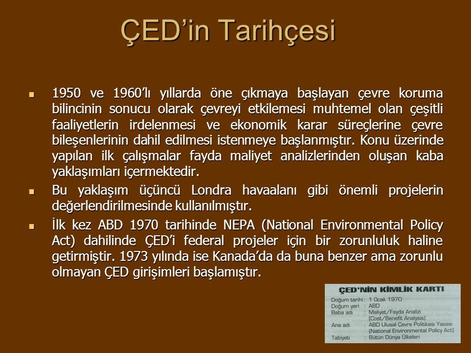 ÇED'in Tarihçesi