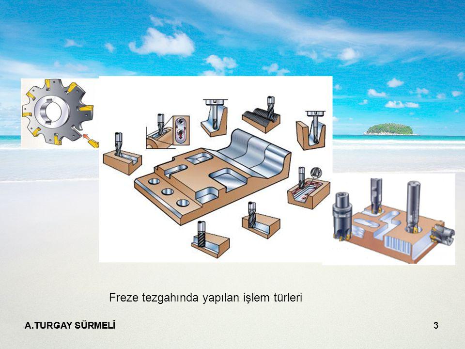 Freze tezgahında yapılan işlem türleri