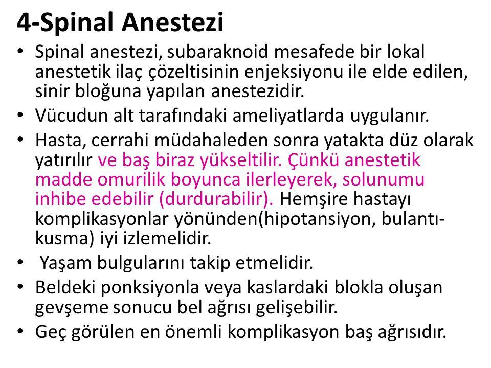 4-Spinal Anestezi