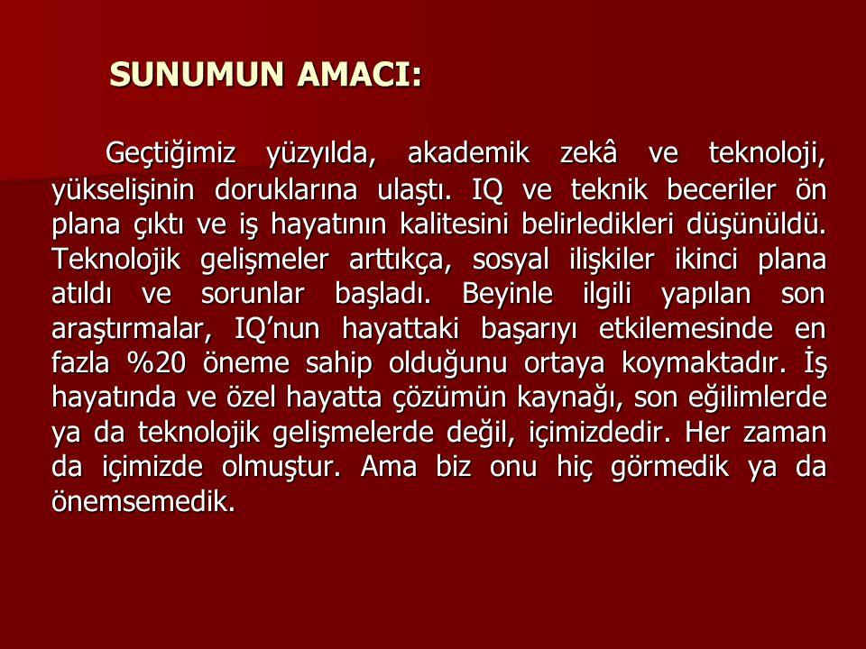 SUNUMUN AMACI: