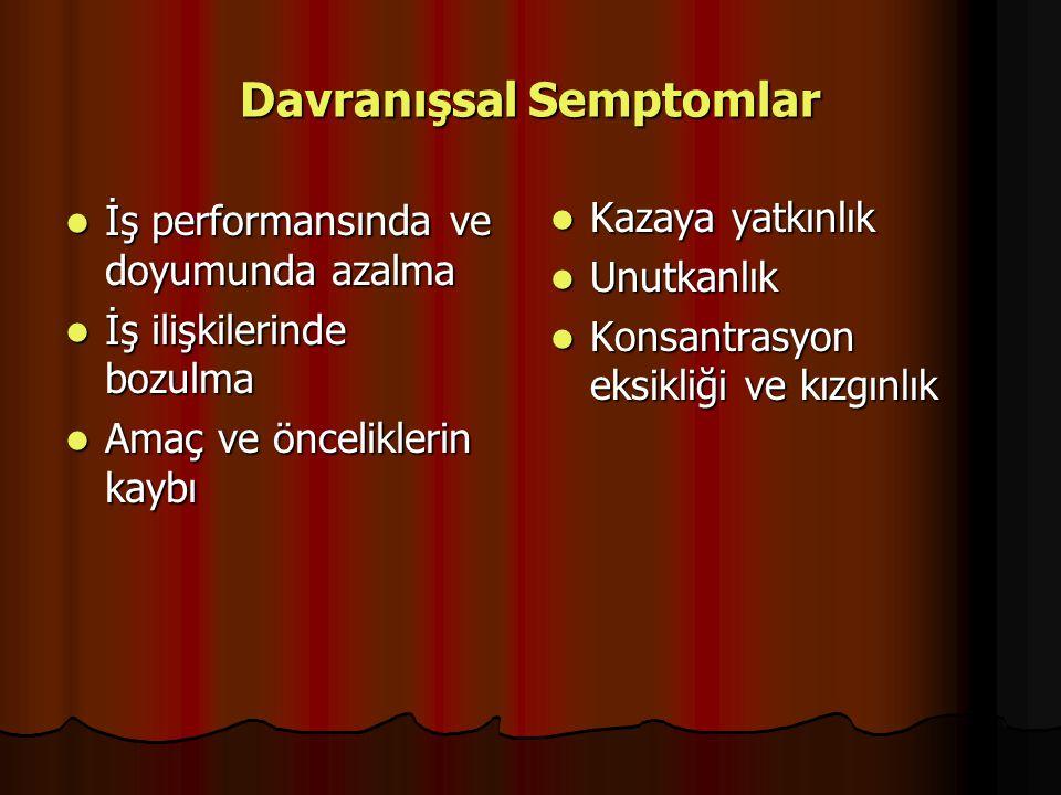 Davranışsal Semptomlar