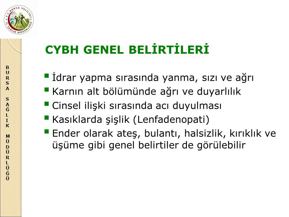 CYBH GENEL BELİRTİLERİ