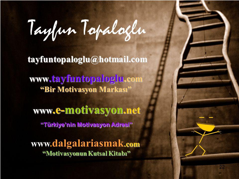 Tayfun Topaloglu tayfuntopaloglu@hotmail.com www.tayfuntopaloglu.com