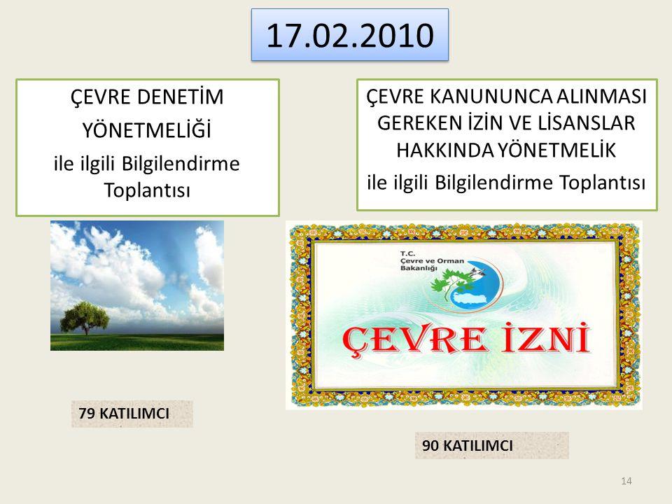 17.02.2010 ÇEVRE DENETİM YÖNETMELİĞİ