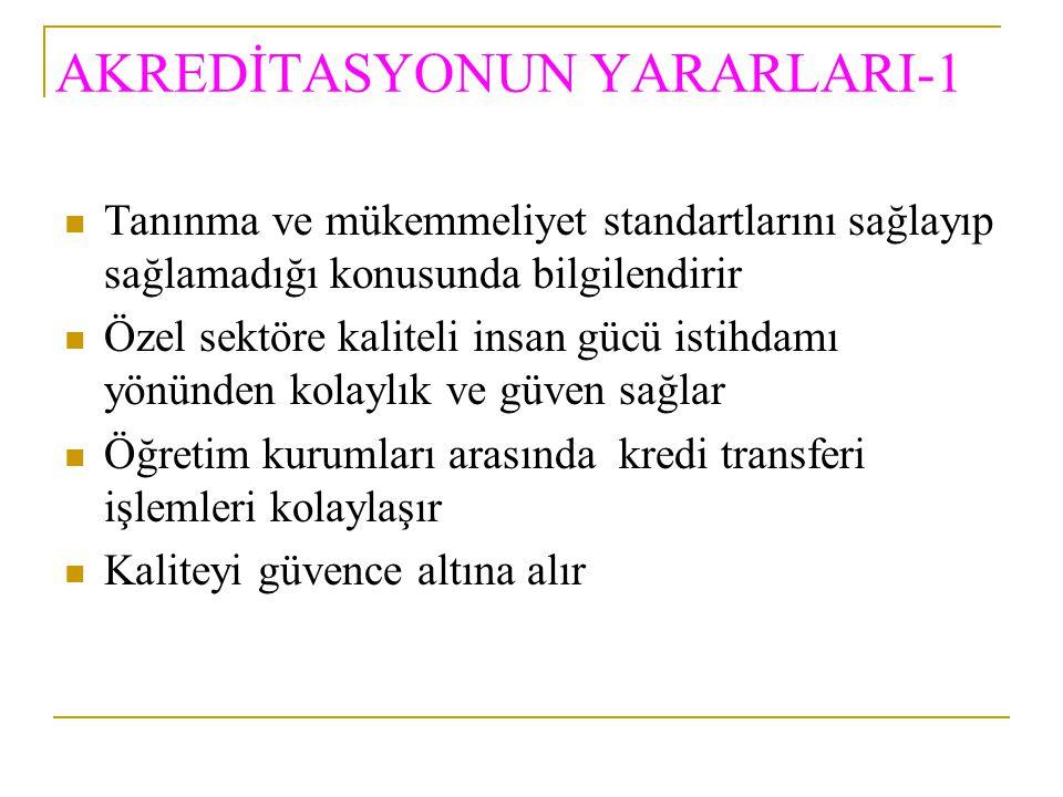 AKREDİTASYONUN YARARLARI-1
