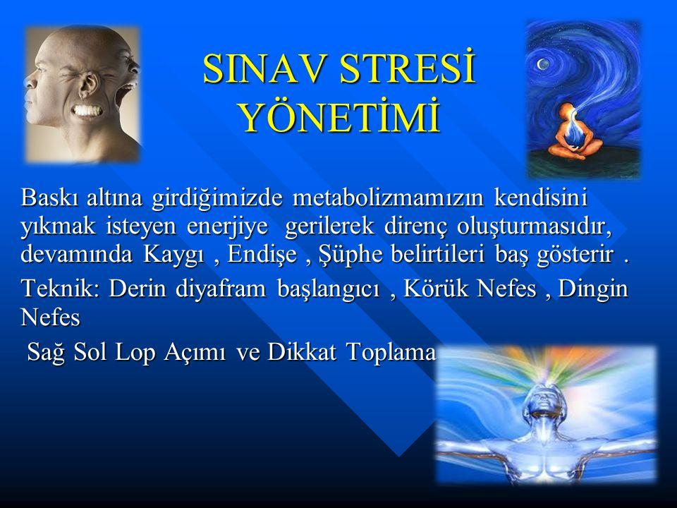 SINAV STRESİ YÖNETİMİ