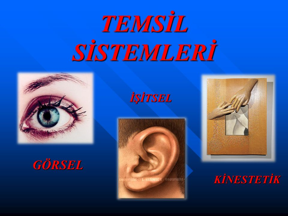 TEMSİL SİSTEMLERİ İŞİTSEL GÖRSEL KİNESTETİK