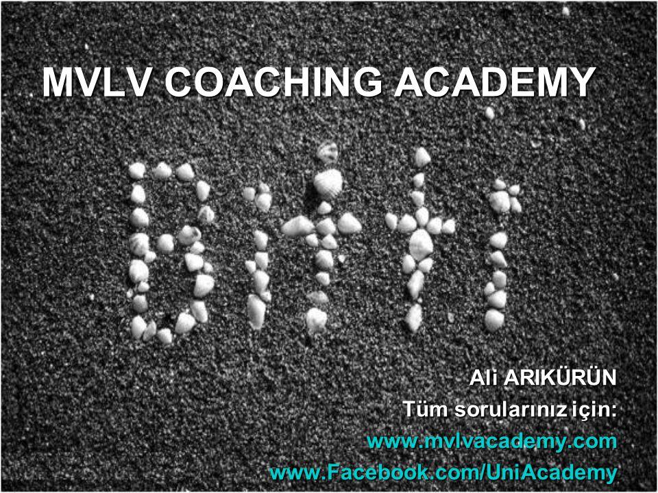MVLV COACHING ACADEMY Ali ARIKÜRÜN Tüm sorularınız için: