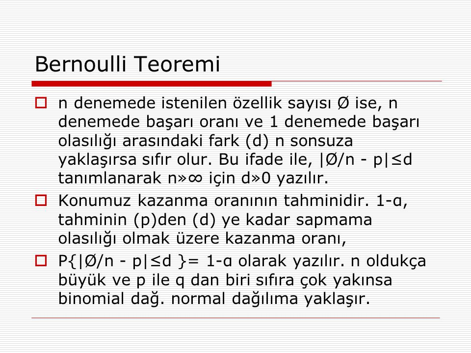 Bernoulli Teoremi