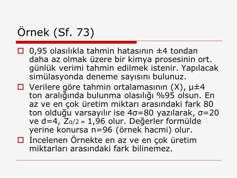 Örnek (Sf. 73)