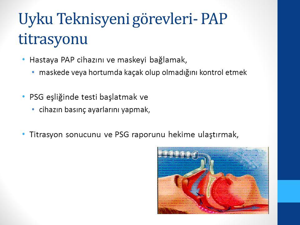 Uyku Teknisyeni görevleri- PAP titrasyonu