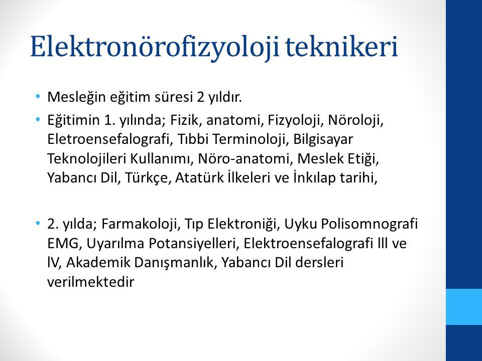 Elektronörofizyoloji teknikeri