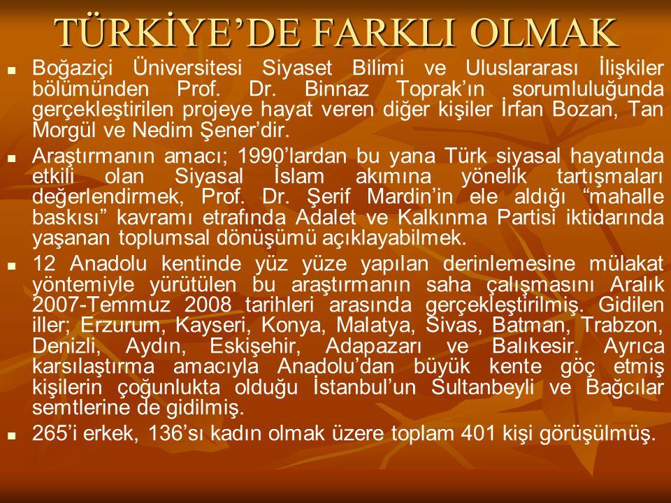 TÜRKİYE'DE FARKLI OLMAK