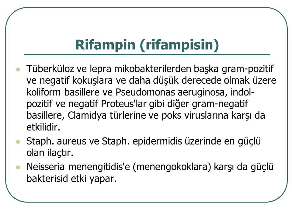 Rifampin (rifampisin)