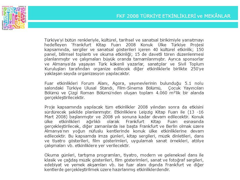 FKF 2008 TÜRKİYE ETKİNLİKLERİ ve MEKÂNLAR