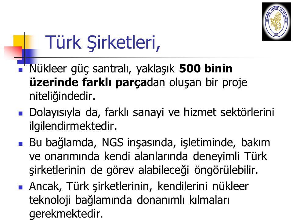 Türk Şirketleri, Nükleer güç santralı, yaklaşık 500 binin üzerinde farklı parçadan oluşan bir proje niteliğindedir.