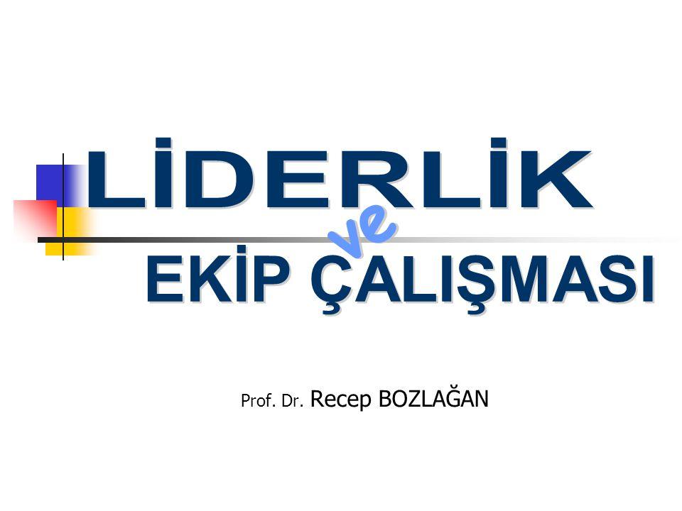 LİDERLİK ve EKİP ÇALIŞMASI Prof. Dr. Recep BOZLAĞAN