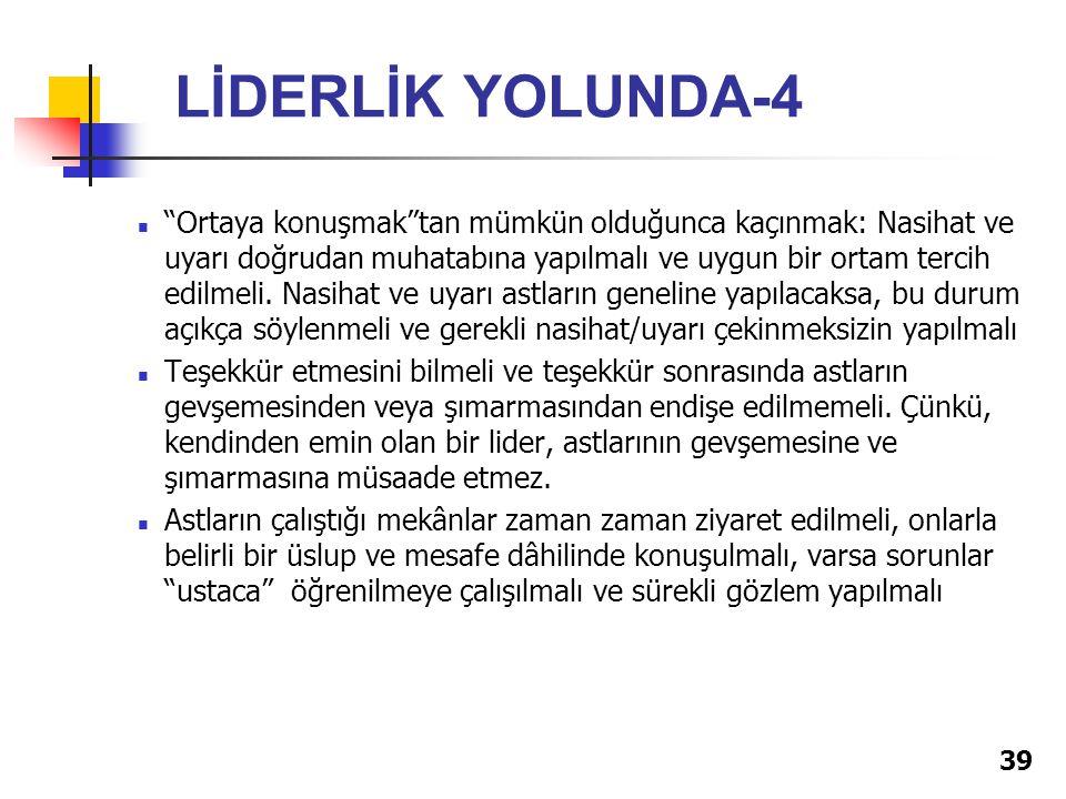 LİDERLİK YOLUNDA-4
