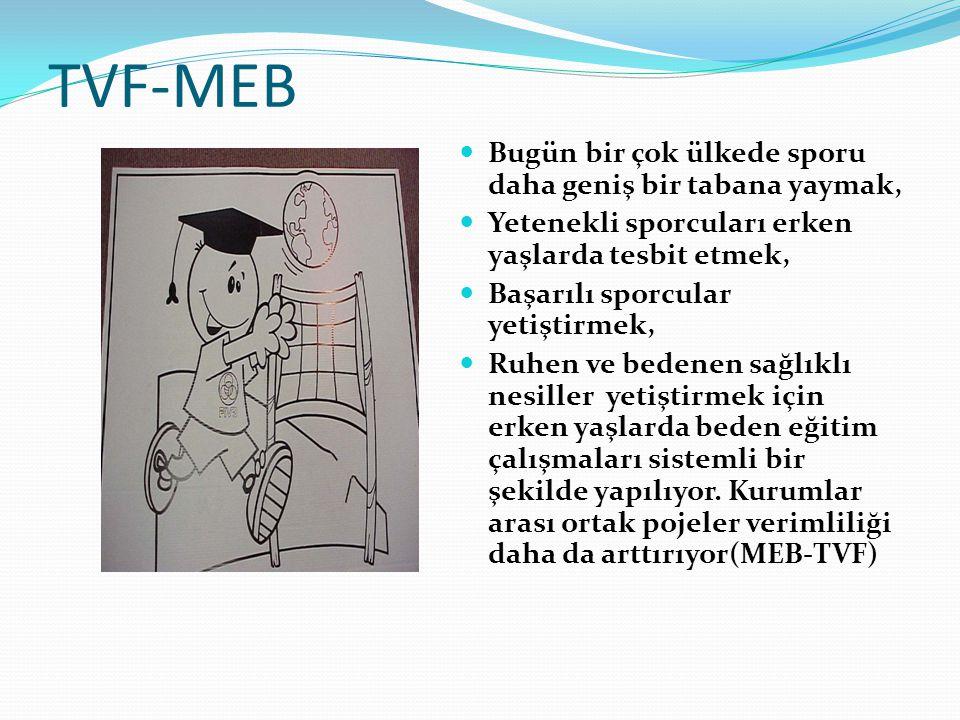 TVF-MEB Bugün bir çok ülkede sporu daha geniş bir tabana yaymak,