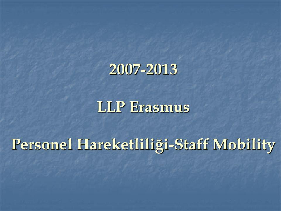 2007-2013 LLP Erasmus Personel Hareketliliği-Staff Mobility
