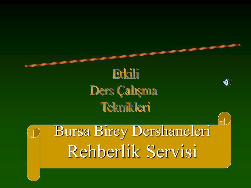 Bursa Birey Dershaneleri