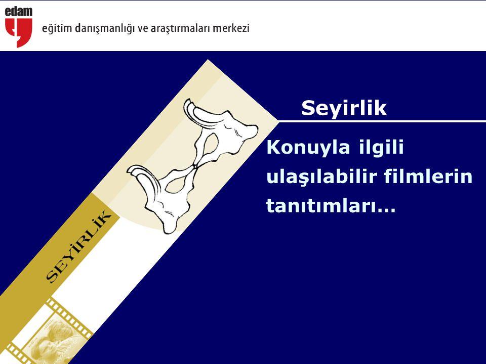Seyirlik Konuyla ilgili ulaşılabilir filmlerin tanıtımları…