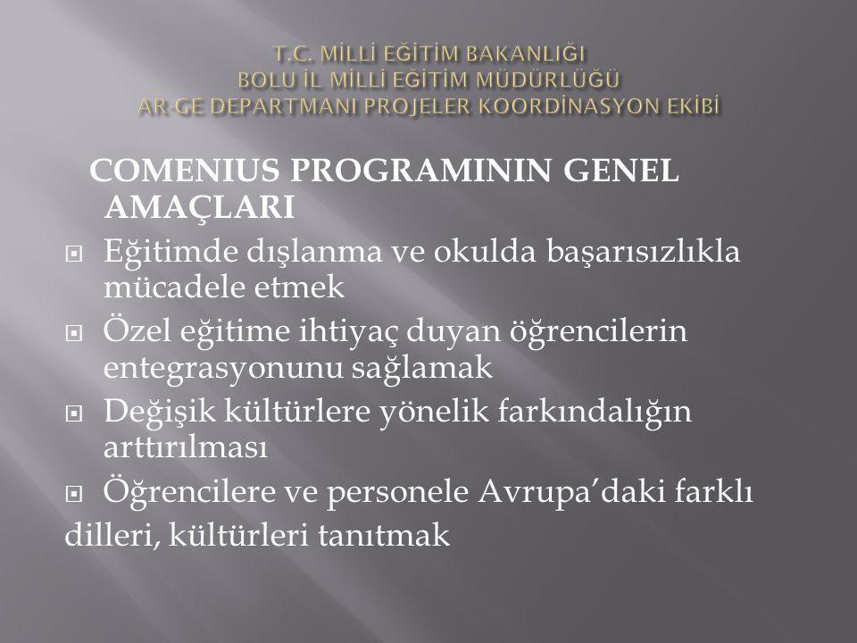COMENIUS PROGRAMININ GENEL AMAÇLARI