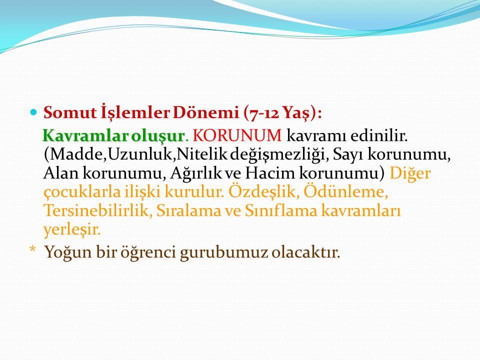 Somut İşlemler Dönemi (7-12 Yaş):