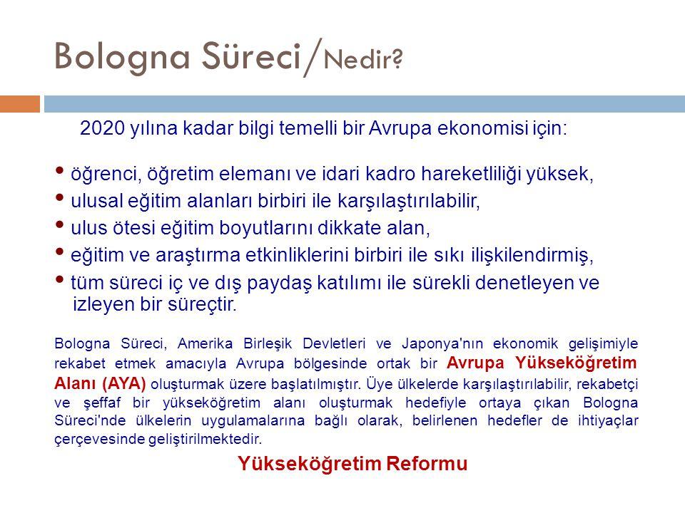 Yükseköğretim Reformu