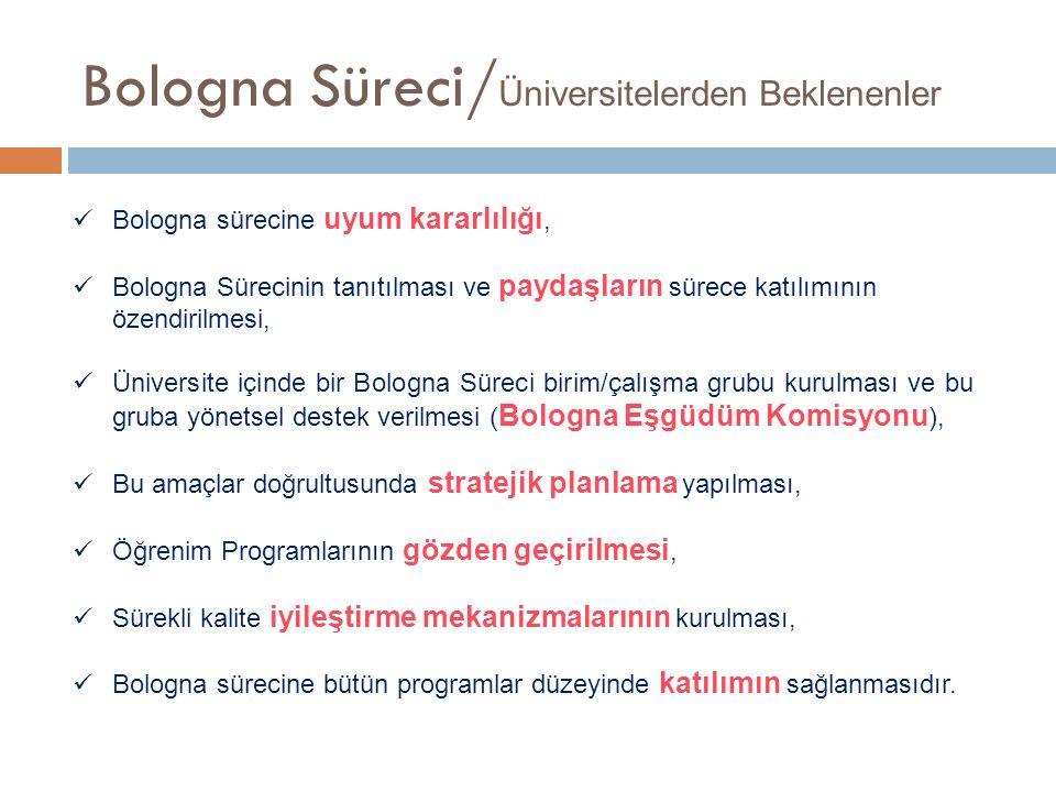 Bologna Süreci/Üniversitelerden Beklenenler