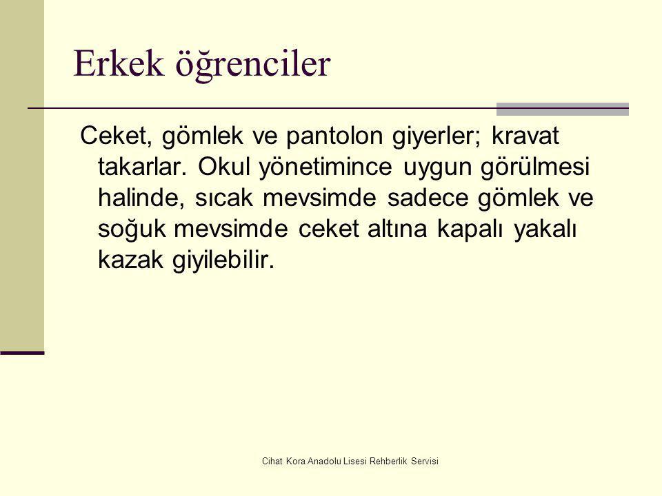 Cihat Kora Anadolu Lisesi Rehberlik Servisi