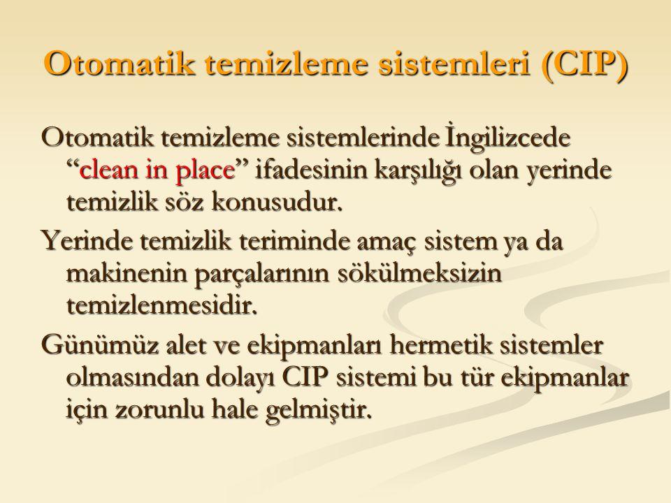 Otomatik temizleme sistemleri (CIP)