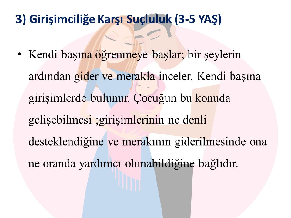 3) Girişimciliğe Karşı Suçluluk (3-5 YAŞ)