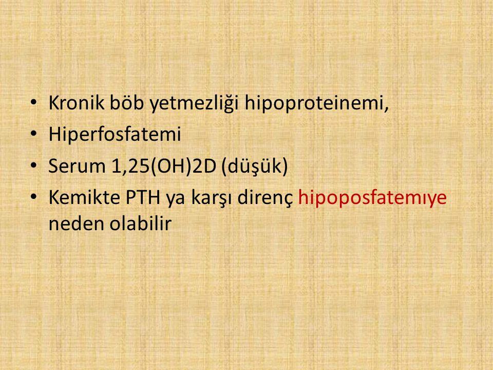 Kronik böb yetmezliği hipoproteinemi,