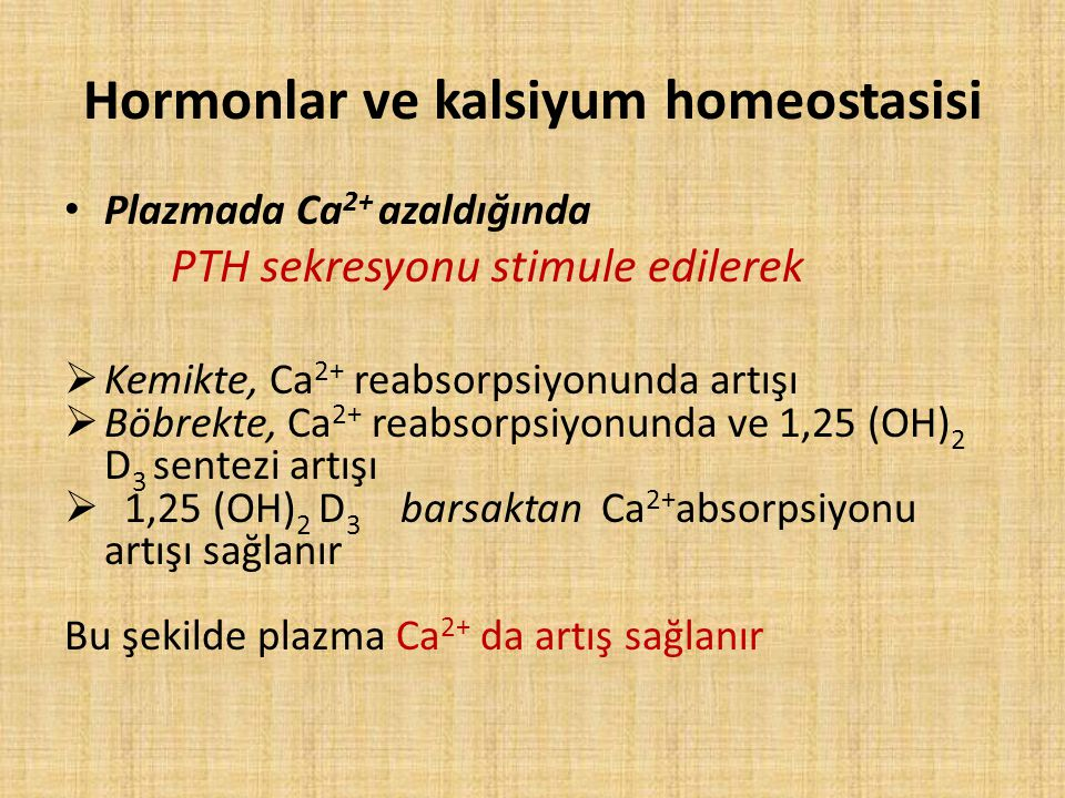 Hormonlar ve kalsiyum homeostasisi