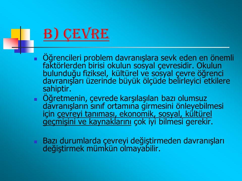 b) Çevre