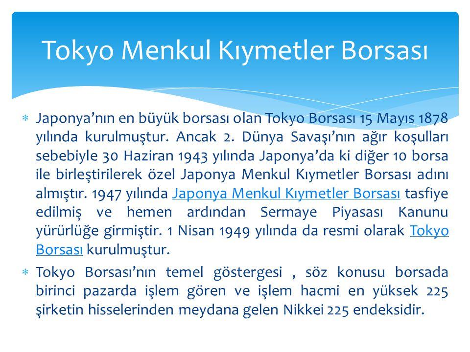 Tokyo Menkul Kıymetler Borsası
