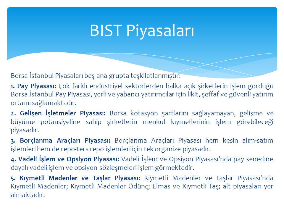 BIST Piyasaları