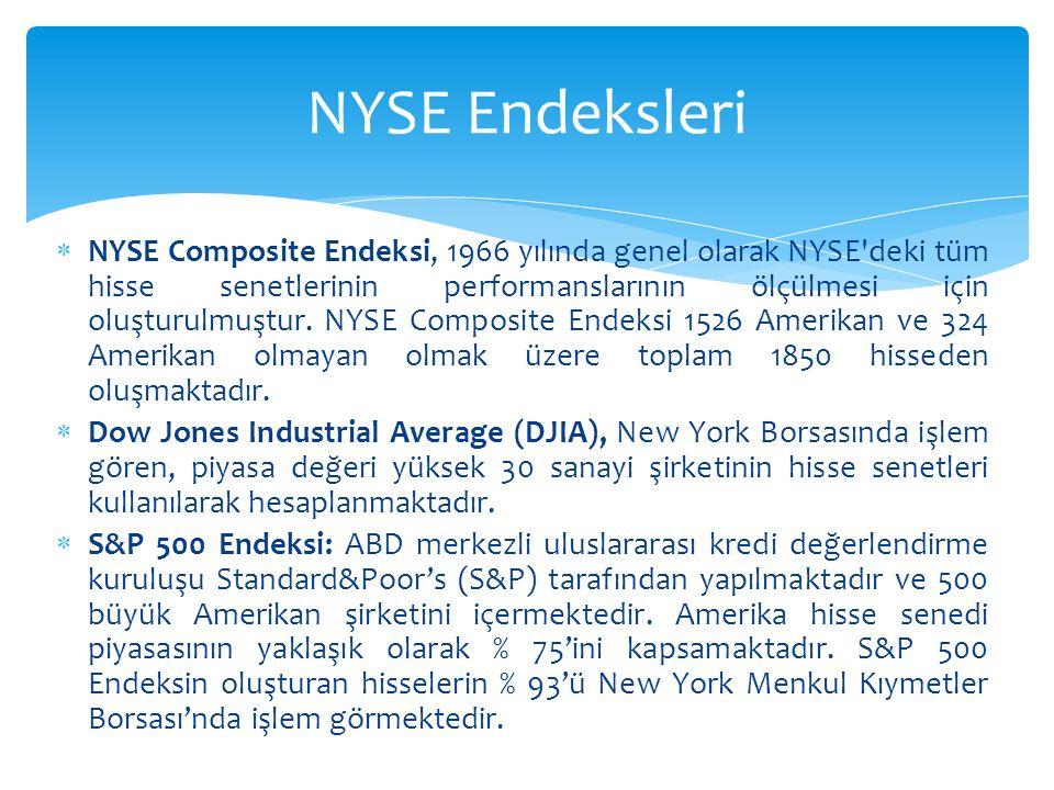 NYSE Endeksleri