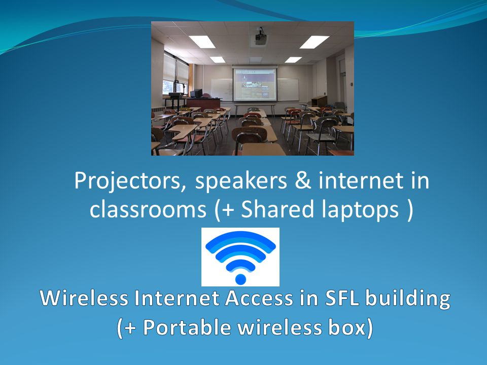 Wireless Internet Access in SFL building (+ Portable wireless box)