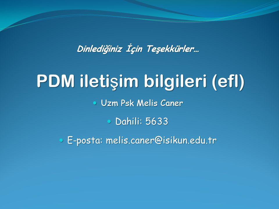 PDM iletişim bilgileri (efl)