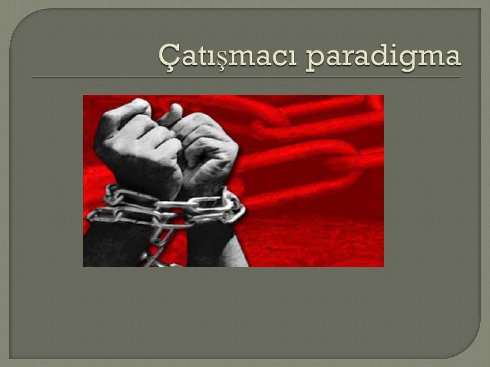 Çatışmacı paradigma