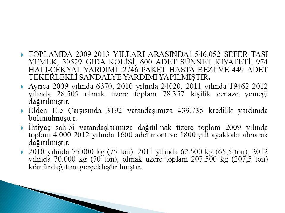 TOPLAMDA 2009-2013 YILLARI ARASINDA1