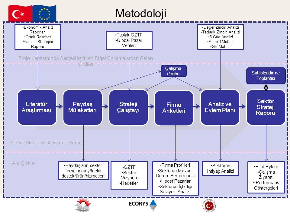 Metodoloji Literatür Araştırması Paydaş Mülakatları Strateji Çalıştayı