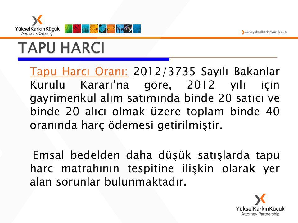 TAPU HARCI